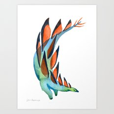 Strutting Stegosaurus Art Print