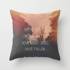 Fallen Skies Throw Pillow