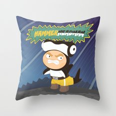 The Great Hammerheadman Throw Pillow