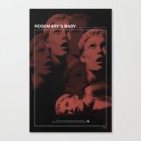 Rosemary's Baby Movie Po… Canvas Print
