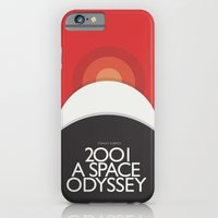 iPhone & iPod Case featuring 2001 A Space Odyssey - Stanley Kubrick Poster, Red Version by Stefanoreves