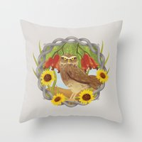 Cashew And Owl Throw Pillow