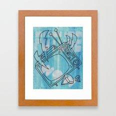 FUTURE ! WOW ! Framed Art Print