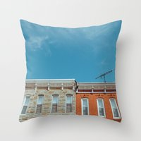 Federal Hill Homes Throw Pillow