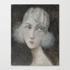 1920's style young woman Canvas Print