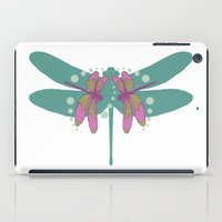 pattern with dragonflies 4 iPad Case