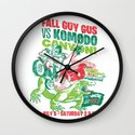 Fall Guy Gus vs Komodo Canyon! Wall Clock