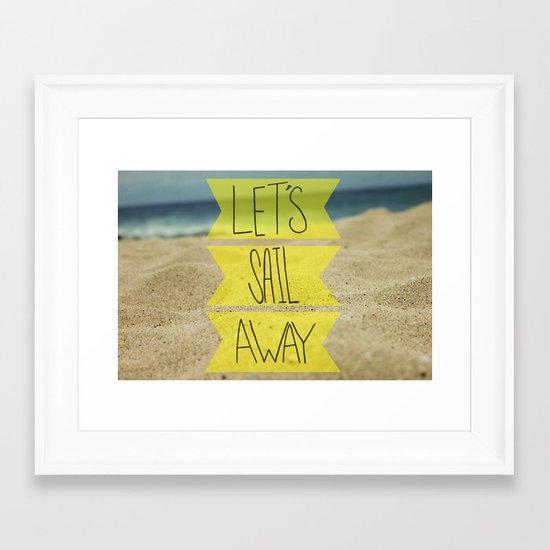 Let's Sail Away: Sandy Beach Framed Art Print