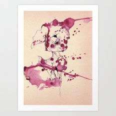 Spotted kitty fawn Art Print