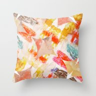 Throw Pillow featuring Colour Palette Pattern by Marlidesigns