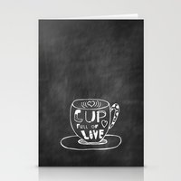 Cup Full Of Love Chalkbo… Stationery Cards