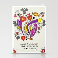 Love is louder Stationery Cards
