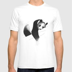 Panda Bear Mens Fitted Tee White SMALL