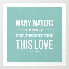 Many Waters Art Print