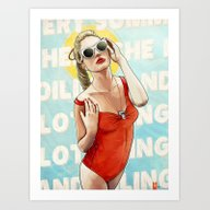 Oiling And Lotioning Art Print