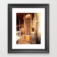 Ghost Mailbox Framed Art Print