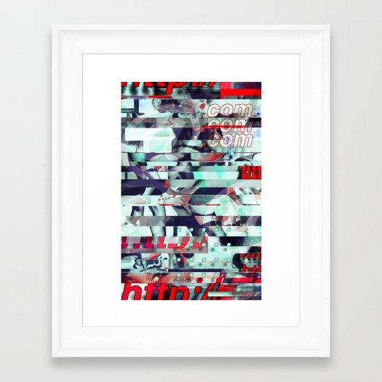 Glitch Decon 3 Framed Art Print