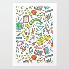 School Is Cool Art Print