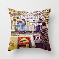 Record Store Throw Pillow