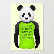 Panda You are Bamboo Canvas Print
