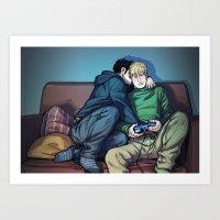 William and Theodore 07 Art Print