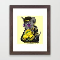 Boxing Cat 3 Framed Art Print
