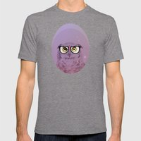 MY OWL GEEK Mens Fitted Tee Tri-Grey SMALL