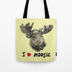 I Love Moosic! // Moose Tote Bag