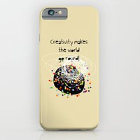 iPhone & iPod Case featuring Creativity makes the world go round! by Inspire me Print