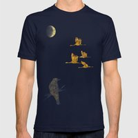 Moon-lit Flight Mens Fitted Tee Navy SMALL