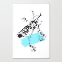 Bleu Boréal Canvas Print