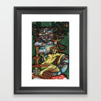 Mentalice And The Caterp… Framed Art Print