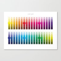 Color Grid Canvas Print