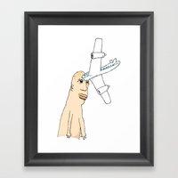 Airplane Head Framed Art Print