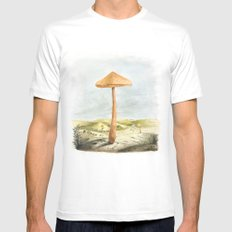 Mushland - Watercolors SMALL White Mens Fitted Tee