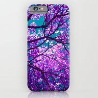 iPhone Cases featuring purple tree II by blackpool