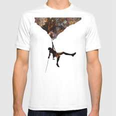Rock Climbing  Mens Fitted Tee White SMALL
