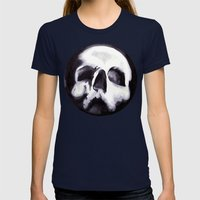 Bones II Womens Fitted Tee Navy SMALL