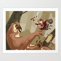 Knubby The Dwarf Fights … Art Print