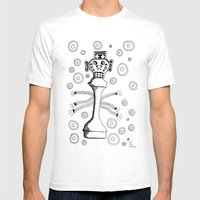 Check Mate Mens Fitted Tee White SMALL