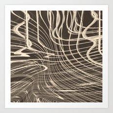 Strung In Art Print