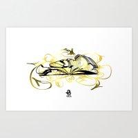 3D Graffiti - No Way Art Print