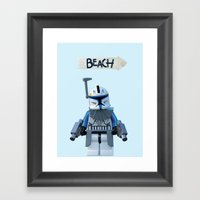 Rex At The Beach Framed Art Print