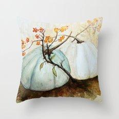 Pumpkin Patch - Watercol… Throw Pillow