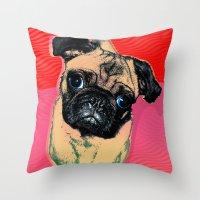 Pug #2 Throw Pillow