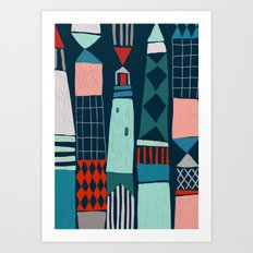 Lighthouses Art Print