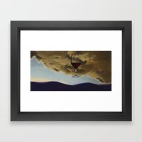 Red Overhead I Framed Art Print