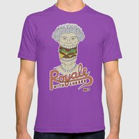 Royale with cheese Mens Fitted Tee Ultraviolet SMALL