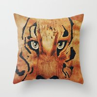 Tiger Watercolor Throw Pillow