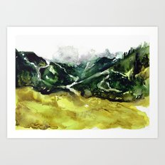 The flow of nature Art Print